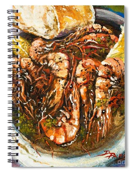 Barbequed Shrimp Spiral Notebook