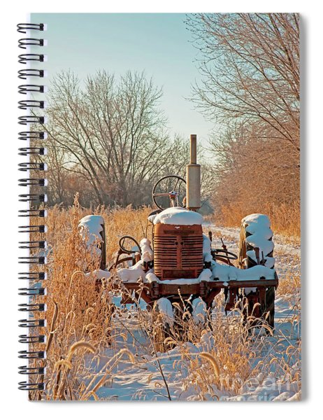 Bard Road Farm Il Tractor Frosted Field Winter  Spiral Notebook