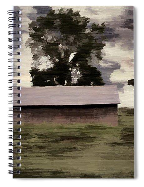 Barn II A Digital Painting Spiral Notebook
