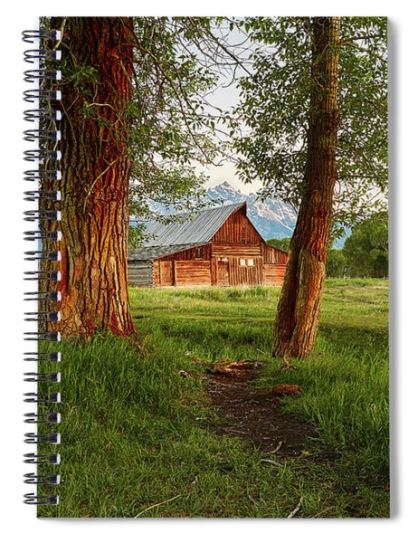 Barn On The Path Spiral Notebook