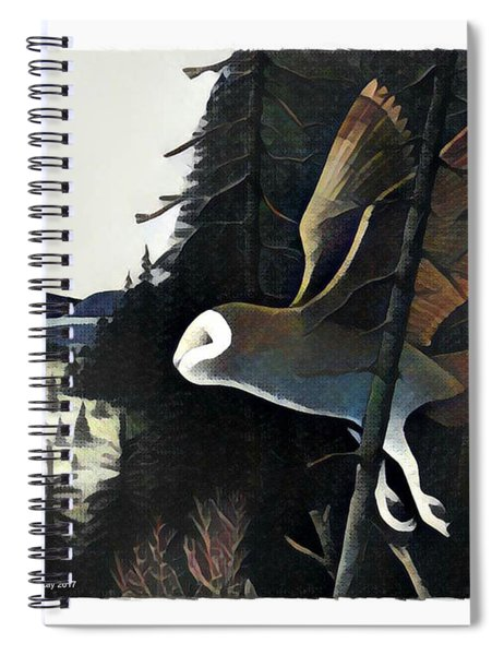 Barn Owl Hunting The Edge Spiral Notebook