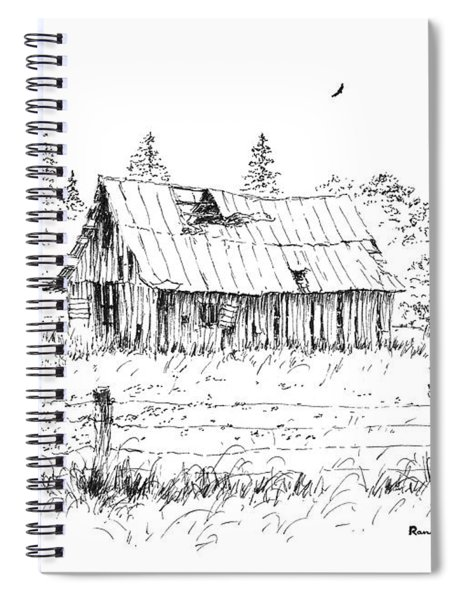 Barn With Skylight Spiral Notebook