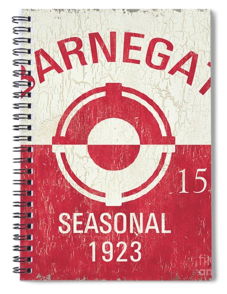 Barnegat Beach Badge Spiral Notebook
