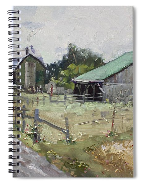 Barns And Old Shack In Norval Spiral Notebook
