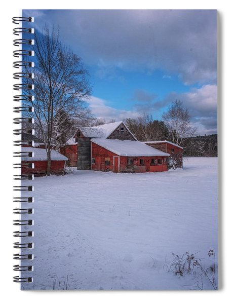 Barns In Winter Spiral Notebook
