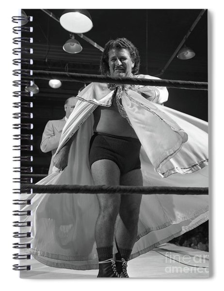 Baron Arena, A Wrestler Also Known As Mad Baron And Glamorous Ge Spiral Notebook