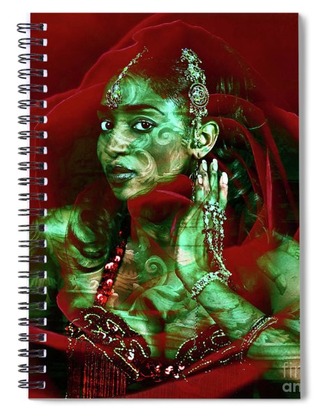 Baroque Meets Oriental Rose Spiral Notebook