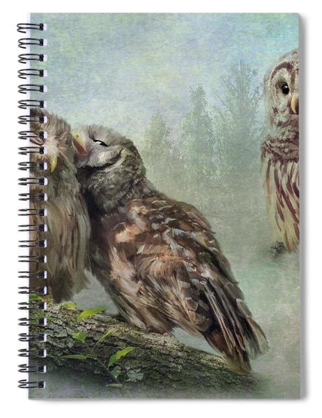 Barred Owls - Steal A Kiss Spiral Notebook