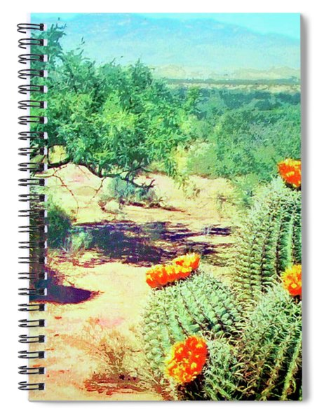 Barrel Cactus In Bloom Spiral Notebook