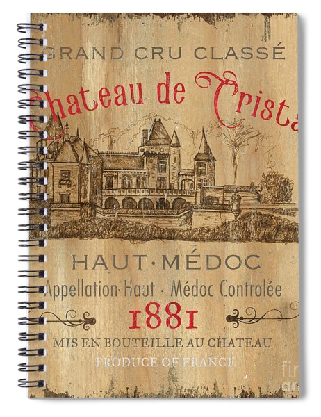 Barrel Wine Label 1 Spiral Notebook