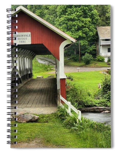 Barronvale Covered Bridge Landcape Spiral Notebook