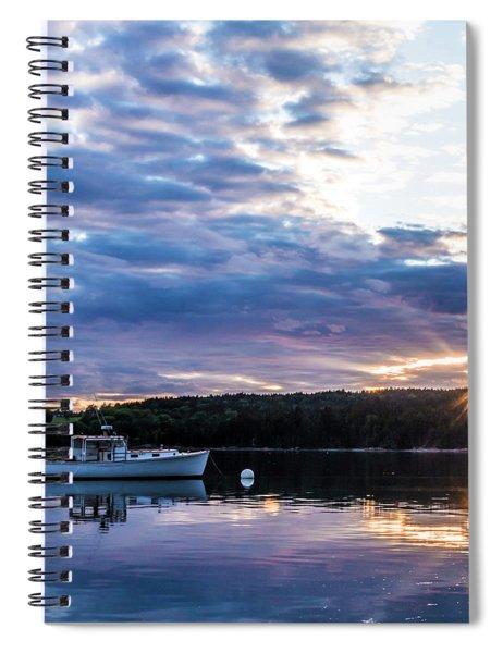 Bartlett's Landing Sunset Three Spiral Notebook