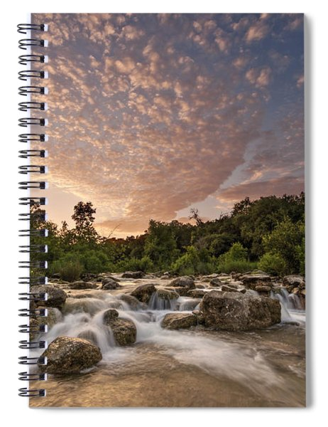 Barton Creek Greenbelt At Sunset Spiral Notebook