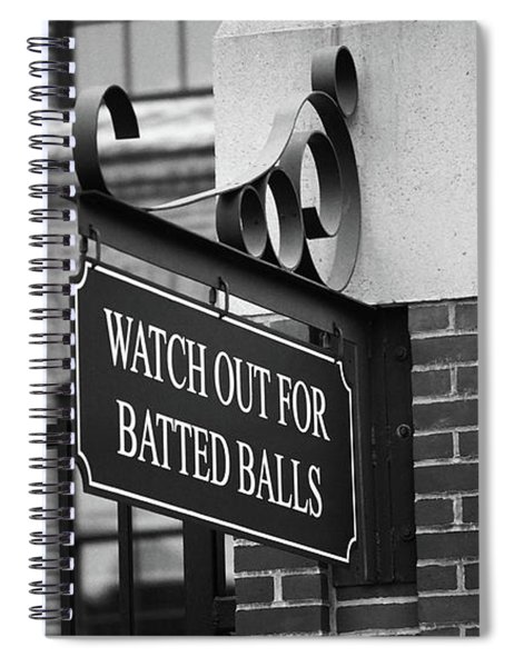 Baseball Warning Bw Spiral Notebook