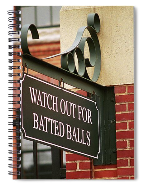 Baseball Warning Spiral Notebook