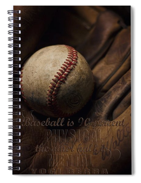 Baseball Yogi Berra Quote Spiral Notebook