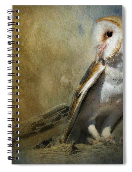Bashful Barn Owl Spiral Notebook