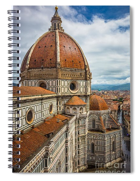 Spiral Notebook featuring the photograph Basilica Di Santa Maria Del Fiore by Inge Johnsson