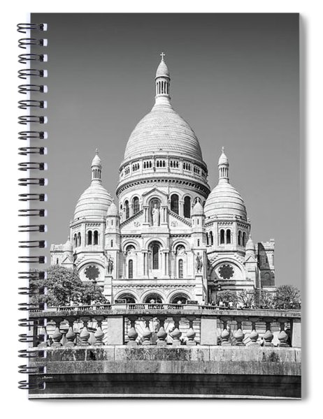 Basilica Of The Sacred Heart In Paris Spiral Notebook