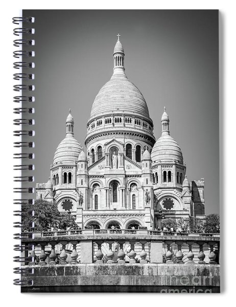Basilica Of The Sacred Heart In Montmartre Spiral Notebook