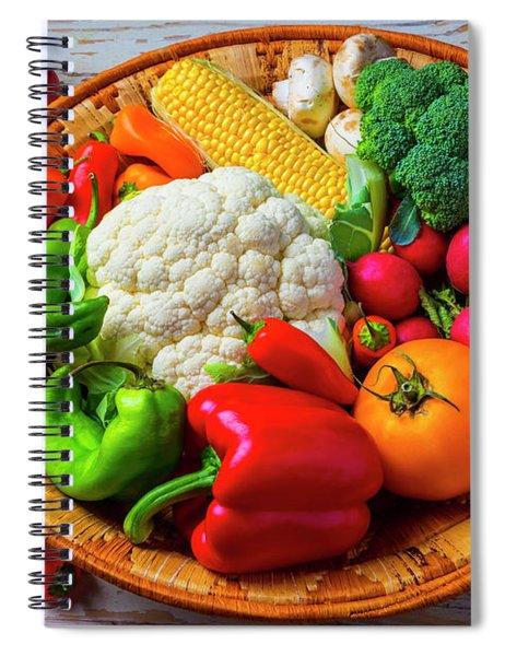 Basket Full Of Farm Fresh Vegetables Spiral Notebook