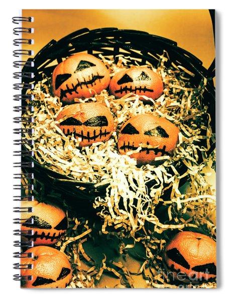 Basket Of Little Halloween Horrors Spiral Notebook