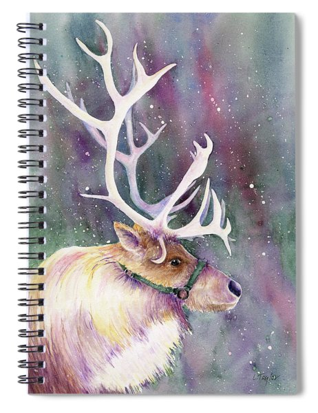 Basking In The Lights Spiral Notebook