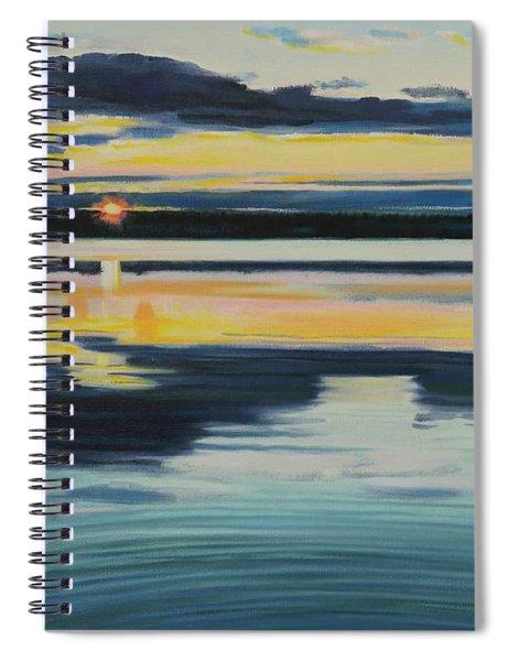 Bass Lake Sunset Spiral Notebook
