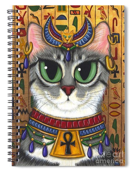 Bast Goddess - Egyptian Bastet Spiral Notebook