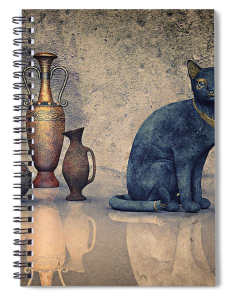 Bastet And Pottery Spiral Notebook