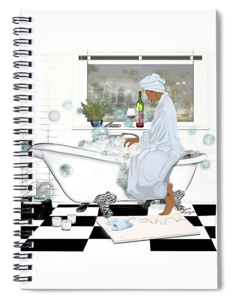 Bath And Wine With Style Spiral Notebook