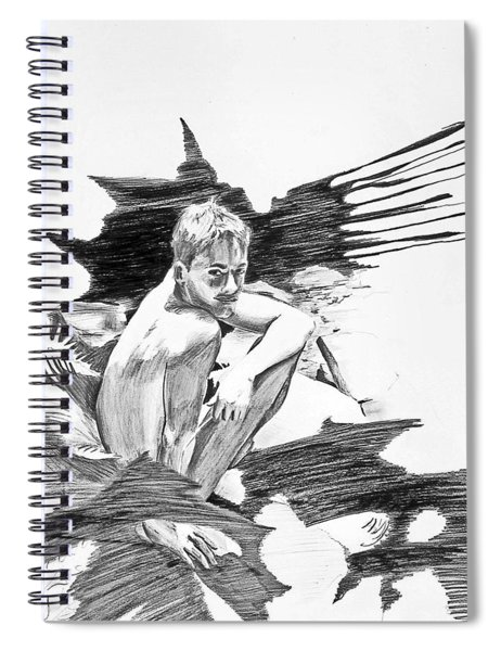 Bathed In White Light Spiral Notebook