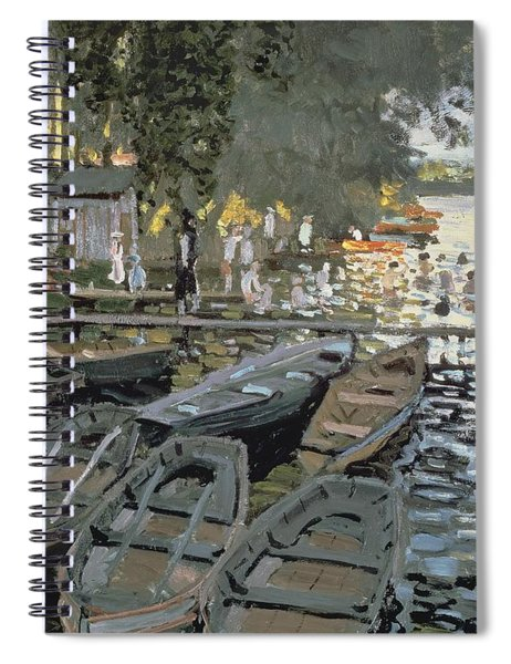 Bathers At La Grenouillere Spiral Notebook