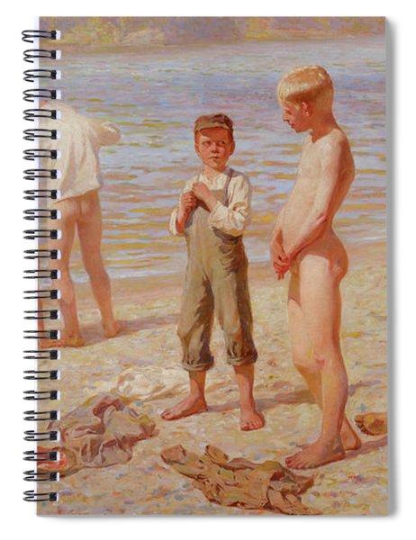 Bathing Spiral Notebook