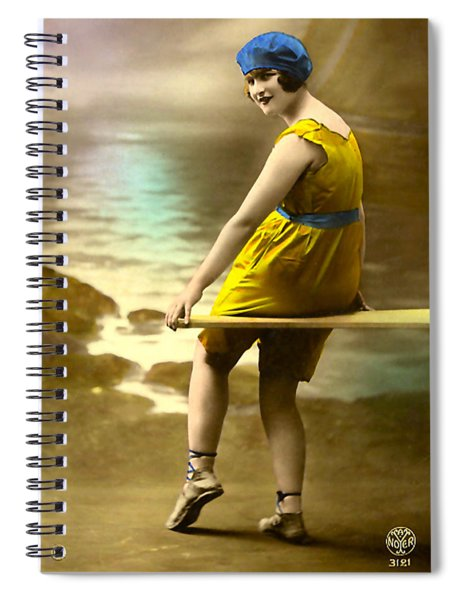 Bathing Beauty In Yellow  Bathing Suit Spiral Notebook