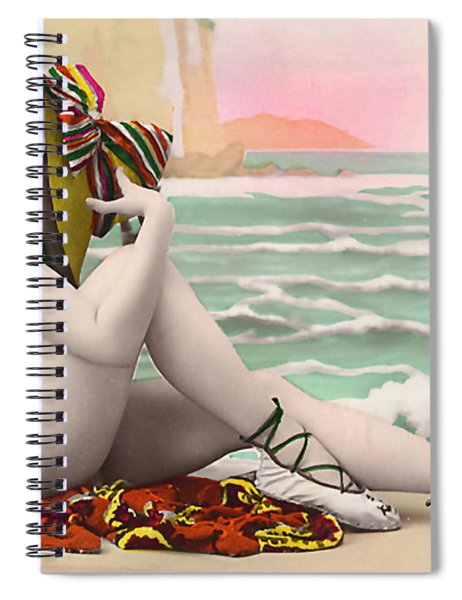 Bathing Beauty On The Shore Bathing Suit Spiral Notebook