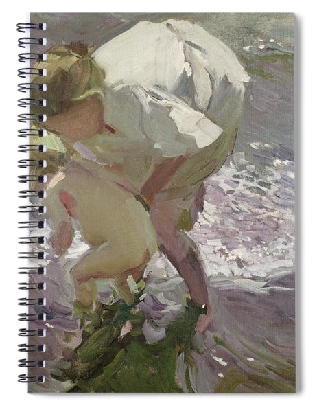 Bathing On The Beach Spiral Notebook