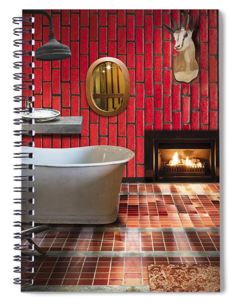 Bathroom Retro Style Spiral Notebook