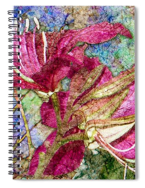 Batik Lilies Spiral Notebook