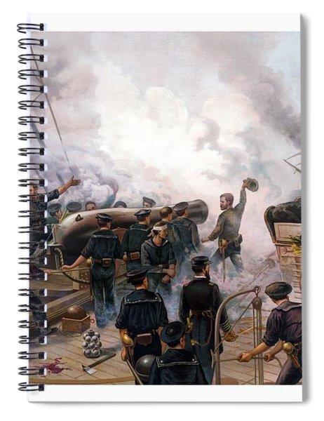 Battle Between Kearsarge And Alabama Spiral Notebook