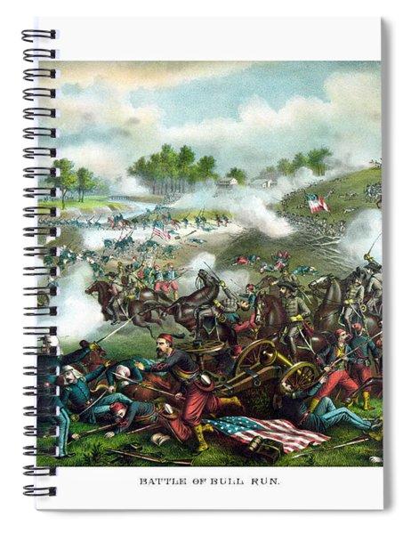 Battle Of Bull Run Spiral Notebook