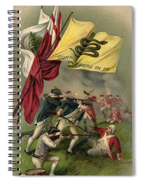 Battle Of Bunker Hill With Gadsden Flag Spiral Notebook