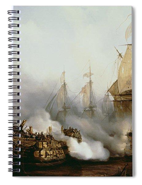 Battle Of Trafalgar Spiral Notebook