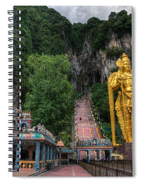 Batu Caves Spiral Notebook