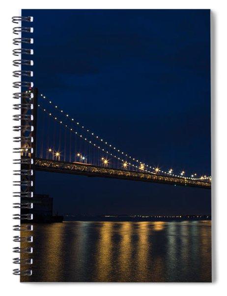 Bay Bridge At Night Spiral Notebook