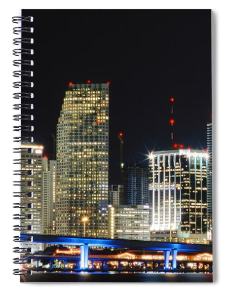 Bay Front Miami Skyline Spiral Notebook