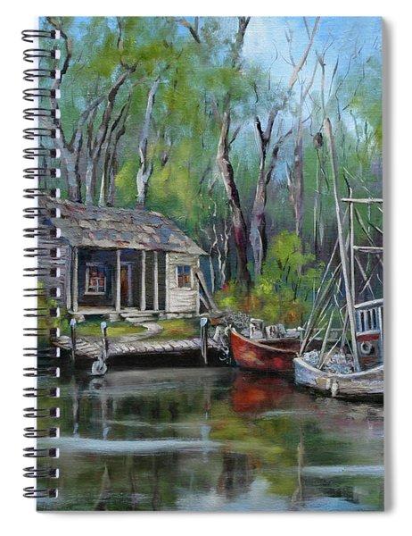 Bayou Shrimper Spiral Notebook