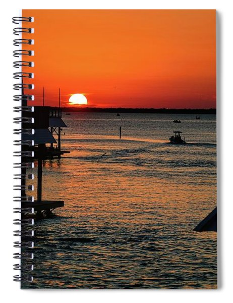 Bayou Vista Sunset Spiral Notebook