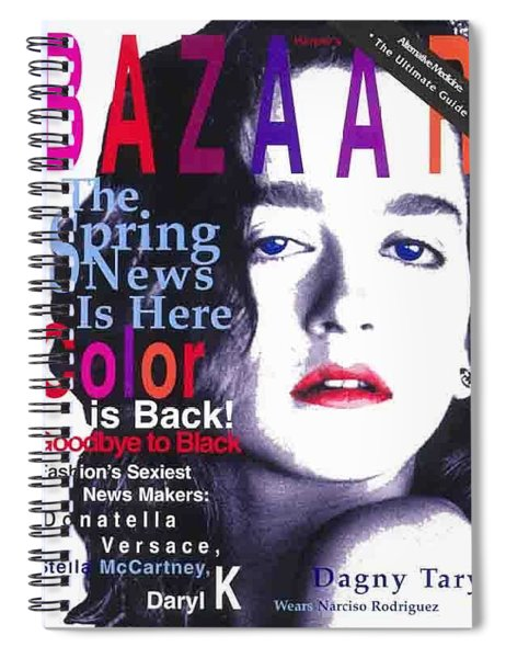 Bazaar Magazine Cover Spiral Notebook