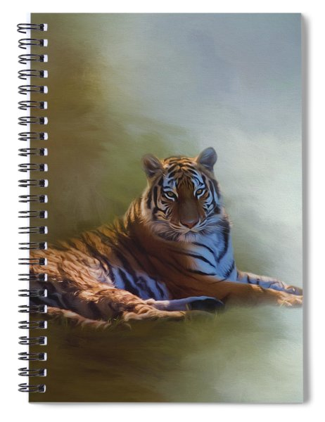 Be Calm In Your Heart - Tiger Art Spiral Notebook